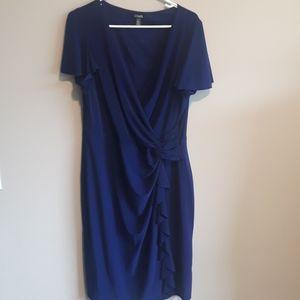 NWT Chaps Faux Wrap Dress